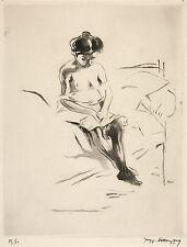 Jacques Villon Reproduction: Woman seated on a bed (La Faute) - Fine Art Print