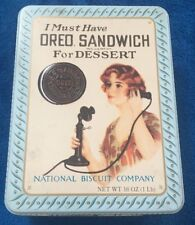 Oreo Collectable Tin Replica of 1918 Advertisement (1986)
