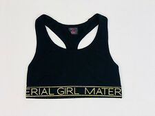 Material Girl Active Juniors Low-Impact Racerback Sports Bra in Black, Medium