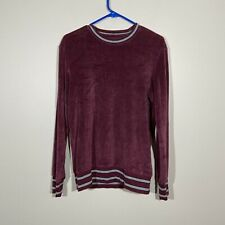 American Eagle Burgundy Velour Pullover Sweater XS