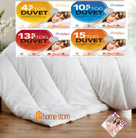 ANTI-ALLERGENIC HOLLOWFIBRE FILLED POLY/COTTON DUVETS - ALL SIZES AND TOGS