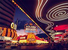 Cityscape Las Vegas Neon Nevada Casino gran cartel impresión de arte bb3054a