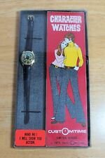 Vintage Animated Football Player Quarterback Character Watch in Original Box