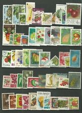 FRUIT AND VEGETABLE  THEMED STAMPS OFF PAPER X 50  -  GOOD MIX  -  ALL DIFFERENT