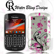 Water Bling Water Lily Hard Case Cover F BlackBerry Bold 9900 + Screen Protector