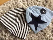 Next Blue Stripe And Star Hats 3-6 Months Bnwt