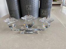 New listing Swarovski Crystal Pin Style 3 Light Candleholders