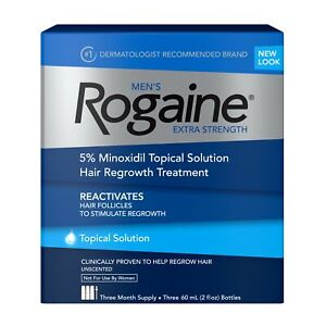 Genuine Rogaine Solution Extra Strength 5% 3-Month Supply
