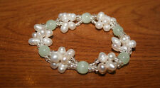 Fresh Water Pearls and Aventurine Stretch Bracelet