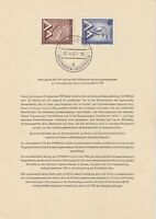 GERMANY 6 JULY 1957 BUILDING EXHIBITION PAIR FIRST DAY PRESENTATION CARD SHS