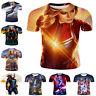 Captain Marvel Avengers Endgame Women Men T-Shirt 3D Print Short Sleeve Tee Tops