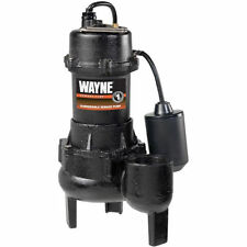 "Wayne RPP50 - 1/2 HP Cast Iron Sewage Pump (2"") w/ Piggyback Tether Float"