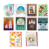 Metal Cutting Dies Stencil  Clear Stamps Scrapbooking Paper Card Craft Embossing