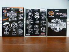 Harley-Davidson Family Decal Kit and Bar & Shield Die Cutz Decal Stickers NEW