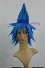 Soul Eater Black Star Cosplay Wig blue wig short wig