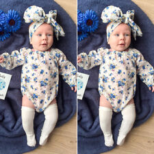Newborn Infant Kid Baby Boy Girl Romper Bodysuit Jumpsuit Clothes Outfits Lots A