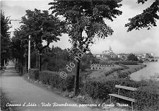 Cartolina - Postcard - Cassano d'Adda - Viale Rimembranze - Canale Muzza - 1956