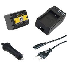 Batteria Patona + caricabatteria casa/auto per Panasonic SDR-H85K,SDR-H85S