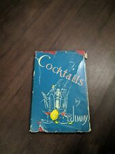RARE! Cocktails by Jimmy- Late of Ciro's London 1930s Era w/ Dust Jacket!