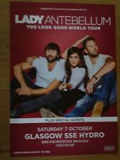 Lady Antebellum - Glasgow oct.2017 live music show tour concert gig poster