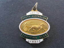 1969 70 SATC South Australia Trotting Club Member Badge