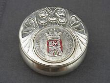 alte Silberdose , Pillendose , Schnupftabak Tiefbautag 1914 Hannover