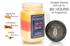 "Apple Pie Cinnamon Vanilla The Candle Daddyâ""¢ 80 hour burn 10 oz jar candle New"
