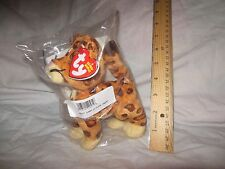 """TY BABY JAGUAR 6"""" BEANIE BABIES - GO DIEGO GO - New in Bag with Tag"""