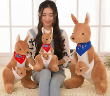 CUTE Mother Kangaroo And Baby Stuffed Animals Soft Toys Plush Dolls 25 CM NEW