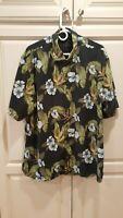 Tommy Bahama Hawaiian Aloha Floral 100% Silk Shirt Mens Sz XL