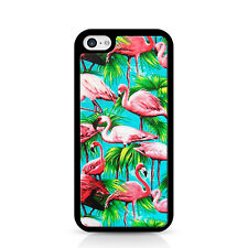 Flamingos Together Black Phone Case