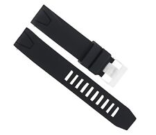 22MM RUBBER WATCH BAND STRAP FOR 45MM OMEGA SEAMASTER PLANET OCEAN XL BLACK