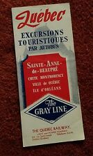 Vintage Quebec Canada Sightseeing Tour Brochure The Grayline The Quebec Railway