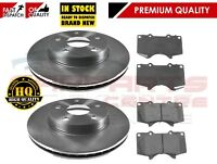 FOR TOYOTA LANDCRUISER KDJ120 3.0 D4D 2 FRONT BRAKE 338mm DISC DISCS PADS 02-09