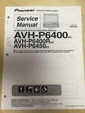 Pioneer Service Manual for the AVH-P6400 AVH P6400R P6450 Car Stereo     mp