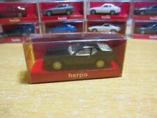 herpa - Scale 1/87 - MINIATUR AUTOMOBILE - Porsche 924 Black - Mini Toy Car