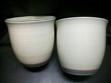 SET 2 JUNIPER CANISTERS NUMBERED STONEWARE POTTERY PFALTZGRAFF YORKETOWNE  PLANT