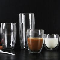 350ml Heat Resistant Double Wall Dual Layer Glass Tea Cup Insulated Coffee Mug