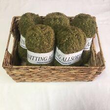 Knitting Allsorts Moss Green Boucle Hand Knitting Yarn - 500g