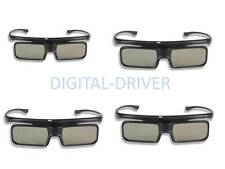 4 pairs New 3D Active Glasses For PANASONIC ty-er3d5ma TY-ER3d5MA AU Models