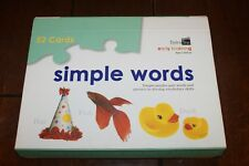 Spice Box Early Learning Simple Words 52 Cards Puzzle Pair & Pictures Skills