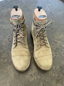 Truman Boots in Coyote Roughout 9.5D