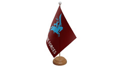 Pegasus Airborne Military Table Flag with Wooden Stand