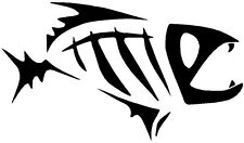 (Nr164) SEA BONE FISH DECAL VINYL STICKER FOR HOOD WALL LAPTOP WINDOW TRUCK CAR