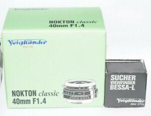Voigtlander NOKTON 40mm f/1.4 classic + Finder For Leica M  Minr Box