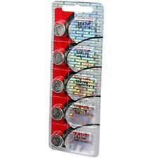 Maxell 386 SR43W Silver Oxide Batteries (5 Batteries)
