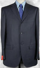 STUNNING_NWT_$3349 GIANLUCA ISAIA HAND_MADE_SUPER 120_V-DARK_NAVY_PIN 42R  11886