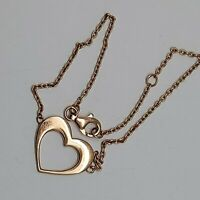 Solid sterling silver 925 bangle bracelet Bz480 7 inch rose gold colour heart