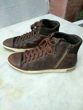 Bull boxer leather brown hight top shoes