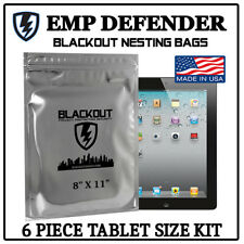FARADAY CAGE EMP ESD BAGS 6 PC TABLET SIZE PREPPER KIT BY EMP DEFENDER